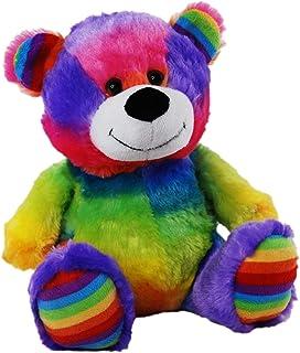 Elka Australia 76201-23C Jelly Teddy Bear Soft Plush Toy, Rainbow, 23 Centimeters