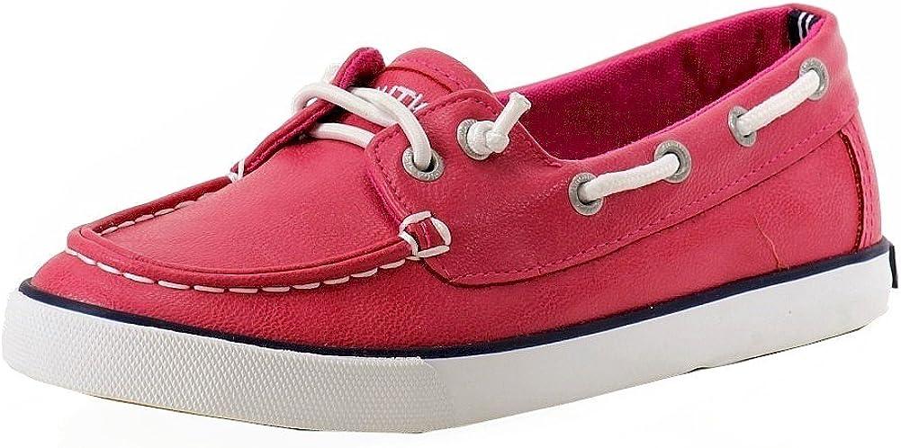 Nautica Girl's Bujama Missy Fuchsia Fashion Slip On Boat Shoes Sz: