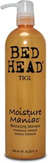 TIGI Bed Head Moisture Maniac Shampoo - For Lightweight Moisture, Replensishes Shine & Smoothness, Moisturizes Hair, For All Hair Types, 25.36 oz (Pack of 3)