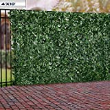 Windscreen4less Artificial Faux Ivy Leaf Decorative Fence Screen 4' x 10' Ivy Leaf Decorative Fence Screen