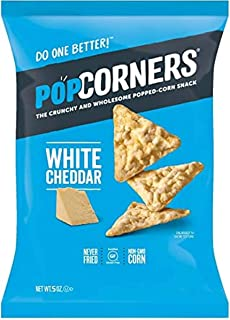 Popcorners White Cheddar Popped Corn Chips, 5 oz