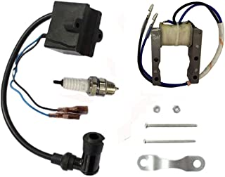 HOOAI 1 Pack of Magneto Coil CDI Ignition Coil System for 2 Stroke 48cc 49cc 66cc 80cc Engine Motorized Bicycle Bike Motors