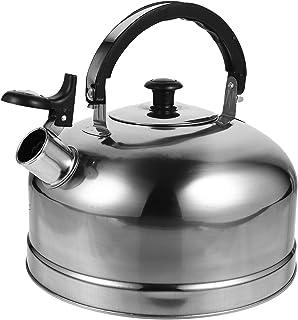 Angoily Bule De Chá De Aço Inoxidável Chaleira de Chá de Assobio para Panela De Água Fervente para Indução Cooktop Fogão A...