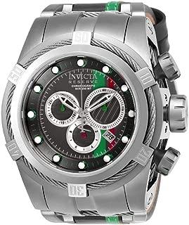 Invicta Men's 26473 Reserve Quartz Chronograph Black, Orange, Silver Dial Watch
