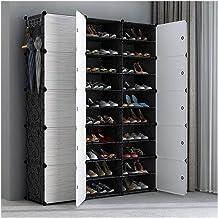 RHTGM. Household Storage Box Bedroom Wardrobe Closet Plastic Shoe Rack (Color : White 3 10)