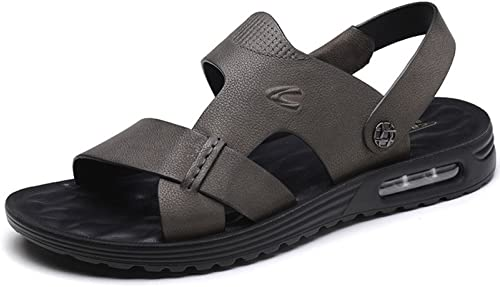 LEDLFIE Sandales Sandales pour Hommes Cuir Brossé Amorti Chaussures De Plage Décontractées Chaussons pour Hommes  vente en ligne économiser 70%