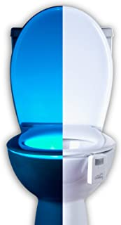16 Color Motion Sensor Toilet Bowl Night Light - Funny Gag Birthday Gift Idea for Husband, Him, Men, Dad, Boyfriend - Cool Fun Gadget & Novelty, Unique Retirement or Housewarming Present