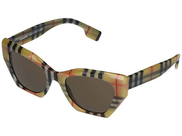 Burberry  BE4299 (Top Transparent/Vintage Check/Grey) Fashion Sunglasses