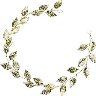 MoreChioce Copricapo da sposa,Fascia in perla di cristallo,Handmade Fascia per capelli della sposa semplice fiore