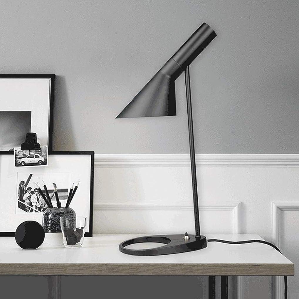 それぞれ無し偶然北欧錬鉄製の卓上スタンド、シンプルな金属LEDデスクライトモダンな調節可能な読書灯寝室のリビングルームの研究装飾照明黒