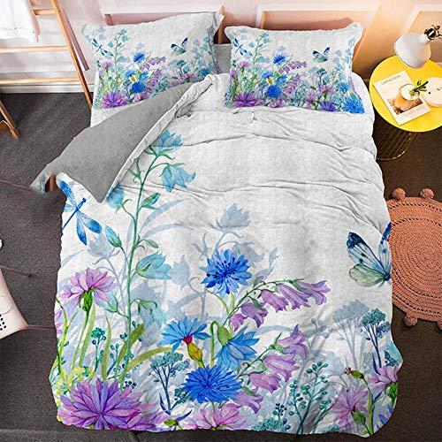 Juego de ropa de cama de lujo con funda de edredón y funda de almohada, impresión 3D HD, textiles para el hogar