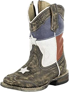 Roper Texas Star Square Toe Cowboy Boot (Toddler/Little Kid)