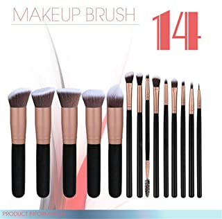14 Pcs Premium Makeup Brush Set 2019 Soft Synthetic Hair Make UP Brush Set Foundation Powder Blusher Lip Eyeshadow Eyeliner Brushes Set Professional