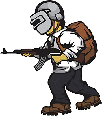 "Wallzone ""Pubg Gamer"" Medium Vinyl Wallsticker(70 cm x 80 cm)"