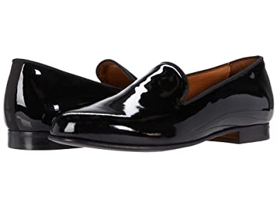 Massimo Matteo Formal Velvet Loafer (Black Patent) Men