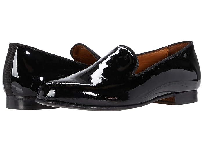 New Vintage Tuxedos, Tailcoats, Morning Suits, Dinner Jackets Massimo Matteo Formal Velvet Loafer Black Patent Mens Shoes $155.00 AT vintagedancer.com
