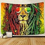 Simsant Rasta Rastafarian Tapisserie Löwenkopf Bob
