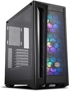 Cooler Master MasterBox MB511 ARGB - Caja PC ATX con Panel Frontal Mallado, 3 x 120mm Ventiladores Preinstalados, Panel Lateral de Vidrio, Configuraciones Flujo de Aire Flexible - ARGB
