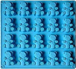 2-20 Cavity (40 Total Bears) JUMBO size Gummy bear Mold Candy Soap Molds Jello Shots Cupcake topper Chocolate Making Ice tray Random Color