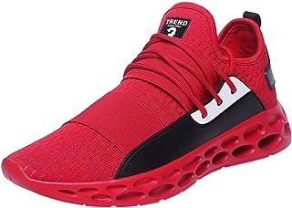 Scarpe da Ginnastica Uomo Nero Rosso Sneakers Sportive Offerta Calzature Vintage Soft Scarpe Donna Sneakers Sportive Elega...