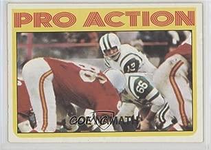 Joe Namath (Football Card) 1972 Topps - [Base] #343