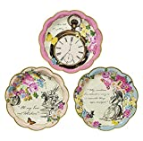 Talking Tables Truly Alice Mad Hatter Tea Party Plates for Parties/Wedding, Mixed (36 Pack)