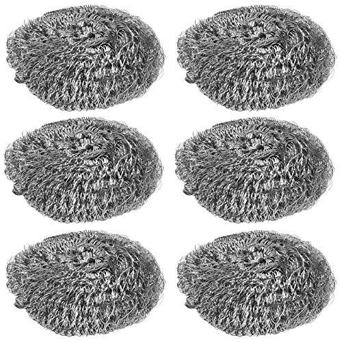 Depurador de lana de acero de 20 piezas, estropajo de acero inoxidable Almohadillas de limpieza Bola de limpieza para plato