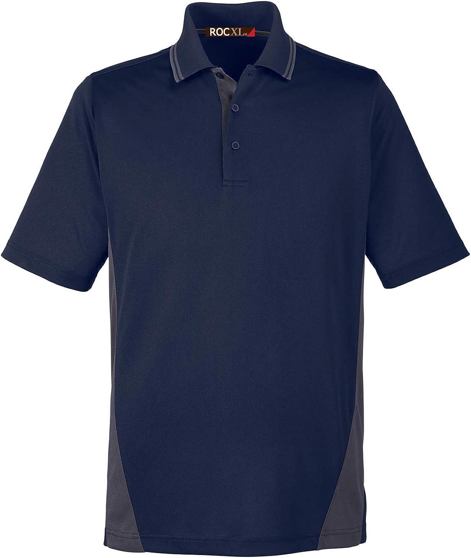 ROCXL Big & Tall Men's Polo Shirt 2XL – 6XL Charcoal Color Block