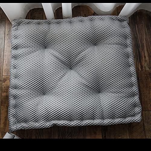 MissW Cojín Cuadrado Cojín Grueso Suave Indeformable Adecuado para Sala De Estar Dormitorio Picnic Rosa Azul Blanco Almohada De Color Sólido