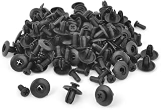 uxcell 100 Pcs Rivets Fastener Fender Bumper Push Screw Pin Clips 8mm Hole