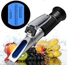 Honey Refractometer for Honey Moisture, Brix and Baume, 3-in-1 Uses, 58-90% Brix Scale Range Honey Moisture Tester, with ATC, Ideal for Honey, Maple Syrup, and Molasses (Honey Refractometer)