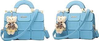 Modern Stylish Handbag PU Leather Shoulder Bag for WOmen Girls - Blue