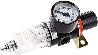 Compresor de aire de humedad del filtro separador de aceite del separador de agua Regulador Lubricador Multiusos 1//4 pulgadas compresor de aire de instrumentos caseros accesorios