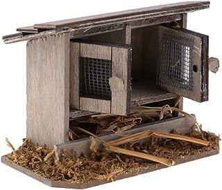 SM SunniMix 1/12 Chicken Coop Nest Hen Garden Outdoor Miniatures Craft for DIY Garden Decoration Accessories