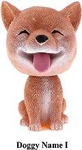 HSR Car Ornaments Bobblehead Dog Nodding Puppy Toys Car Dashboard Decor Toy Lovely Wobble Shaking Head Dolls (Doggy Name I)
