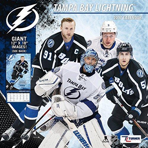 """Turner Licensing Sport 2017 Tampa Bay Lightning Team Wall Calendar, 12""""X12"""" (17998011956)"""