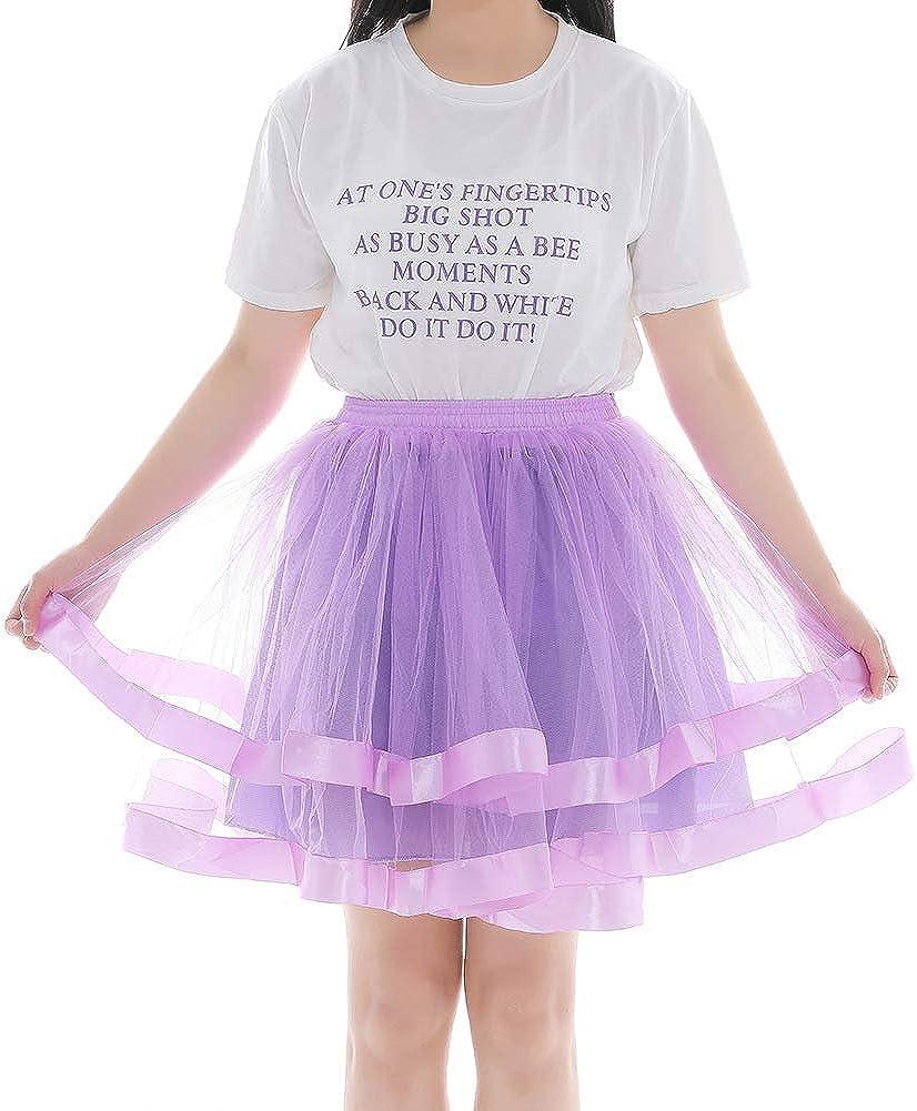 Women Skirt Mesh Bubble Skirt Casual Two-Layer Bubble Tutu Skirt for Midi Length Skirt