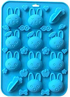 VIIVL Silicone Mold Non-stick Rabbit Carrot Mold for Chocolate Candy Cake Decoration Silicone Mold Baking Tool for Children Clay