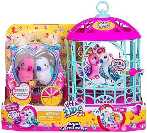 little lives Pets Tweet Talking Birds Royal Sweethearts Exclusive Playset