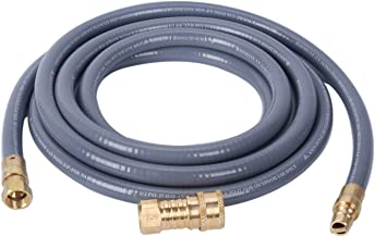 GasSaf 12 Feet 3/8 inch ID Natural Gas Hose with Quick Connect Propane Gas Hose Assembly-3/8 Female Pipe Thread x 3/8 Male Flare Quick Disconnect - CSA Certified