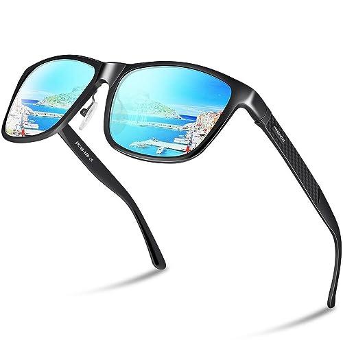 aee2ae3305 Paerde Unisex Retro Al-Mg Metal Frame Polarized Driving Sunglasses For Men  Women …