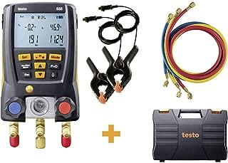 Testo 550 Hoses - Digital Manifold Kit with Bluetooth and Set of 3 Hoses