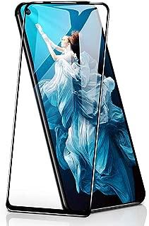 【2枚セット】【ガイド枠付き】QITAYO Huawei nova 5T / honor 20 / honor 20 pro ガラスフィルム通用日本旭硝子製強化ガラスフィルム [ ブルーライトカット 目の疲れ軽減 ] [ 9H硬度 0.3mm薄さ ] [気泡防止 ]( 6.26 インチ Huawei nova 5T 用 フィルム )