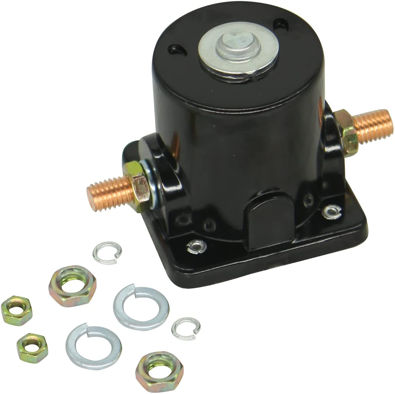 Notonparts 12V Starter Solenoid 383622 389398 Starter Solenoid Relay Switch 380095 389493 For Evinrude 25 25HP 35 35Hp 115 115Hp 140 140HP 185 185HP 1984-1994 Johnson 60 60Hp 1970-1996 70 70HP