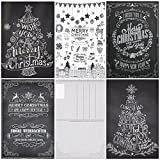 """50 Tarjetas de Navidad """"BLANCO Y NEGRO"""": Juego de 50 Tarjetas de Navidad Nostálgicas (5 Motivos x 10 Piezas = 50 Piezas) en Blanco y Negro en Estilo Retro / Vintage por EDITION COLIBRI (10747-51)"""