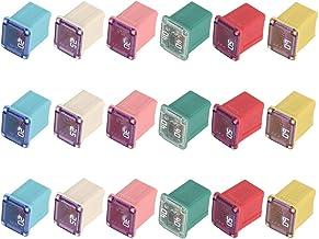 Mini Jcase Fuse Assortment Kit 20A 25A 30A 40A 50A 60A Automotive Low Profile Box Shaped Fuses (18 Pack)