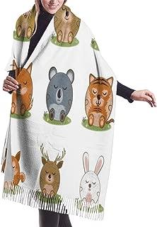 Set Of Beavers Blanket Scarf Womens Cashmere Scarves Winter Large Warm Wrap Shawl Soft