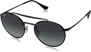 Ray-Ban 0rb3614n Round Sunglasses, Demi Gloss Black, 54 mm