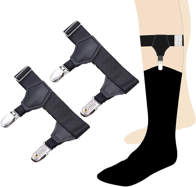Mens Sock Garters Double Sturdy Clip Sturdy Sturdy Adjustable Lady Sock Suspenders For Cotton & Silk Socks Holders