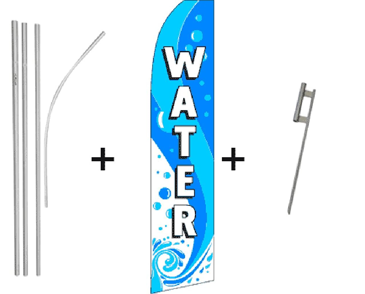 Water Quantity 5 Super Flag & Pole Kits